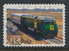 Australia SG 1416  Used  -Trains self adhesive
