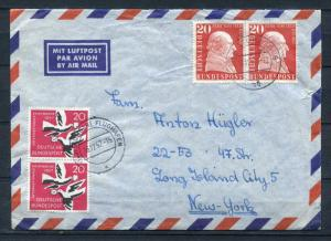 Germany  1957 Cover To USA Pairs