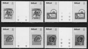 Kiribati #341-44 gutter pairs F-VF Mint NH ** Stamp on stamp
