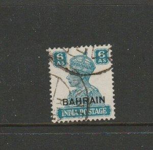 Bahrain  1942/5 defs 6As Used SG 48