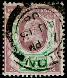 SG223, 1½d pale dull purple & green, USED, CDS. Cat £24. (C)