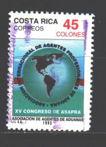 Costa Rica. 1993. 1425. Customs Association Congress. USED.