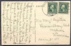ARIZONA: 1919 Adamana Cancel on Postcard; DPO - Petrified Forest