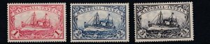 MARSHALL  ISLANDS 1901   S G  G20 - G22     VALUES TO 3M    MH