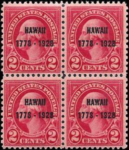 647 Mint,OG,LH/NH... Block of 4... SCV $22.50