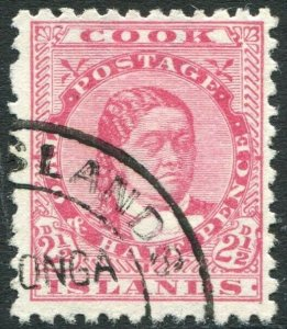 COOK ISLANDS-1893-1900 2½d Rose Sg 8 FINE USED V33835