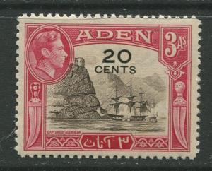 STAMP STATION PERTH Aden #39 KGVI Definitive Overprint Issue 1951 MNH CV$0.50.