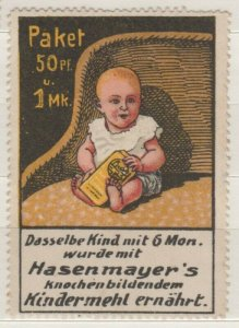 Germany - Advertising Stamp Hasenmeyer Children's Flour - Baby - NG