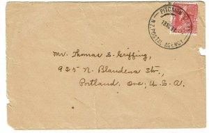 Pitcairn Island 1934 NZ Postal Agency cancel on cover to the U.S.
