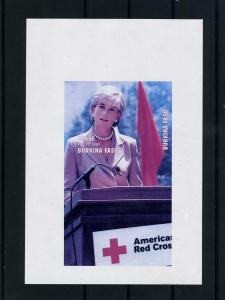 Burkina Faso 1997 Red Cross Princess Diana DeLuxe Proof RARE