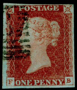 SG8, 1d red-brown PLATE 71, FINE USED. Cat £30. FB