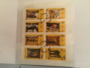 State of Oman Animals of Africa 1973  stamps Sheet R23507