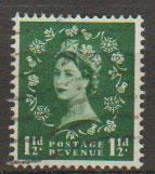 Great Britain SG 563 Used 2 graphite lines on reverse