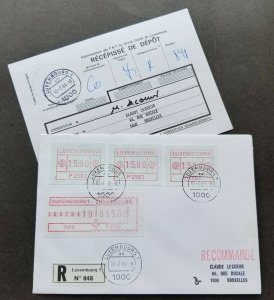 Luxembourg ATM 1984 (Frama Label stamp FDC) *Registered *addressed *see scan
