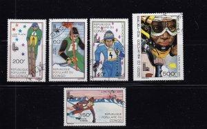 1979 CONGO C261-265, 1979 OLYMPICS (LAKE PLACID) Set CTO