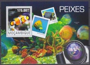 2014 Mozambique 7579/B955 Marine fauna 10,00 €