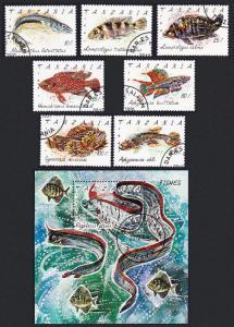 Tanzania Fish 7v+MS CTO SG#1136-MS1143 SC#816-823
