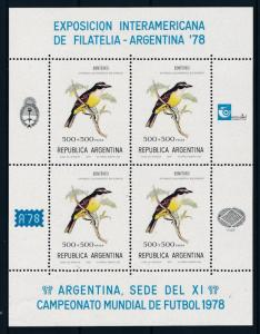 [60759] Argentina 1978 Birds Oiseaux World Cup Soccer Football on label MNH