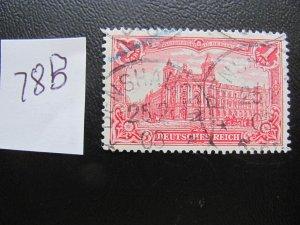 GERMANY 1902  USED MI.NR. 78B GERMAN EMPIRE $34