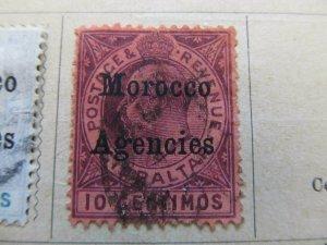 British Morocco 1903-05 Wmk Mult Crown CA 10c fine used stamp A11P30F11