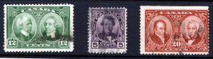 CANADA King George V 1927 The Full Historical Issue SG 271 to SG 273 VFU