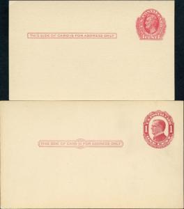 #UX23-24 XF 1¢ US POSTAL CARDS BM1585