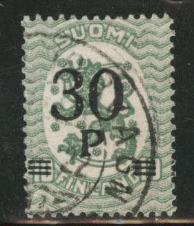 FINLAND SUOMI Scott 123 perf 14 1921 used stamp