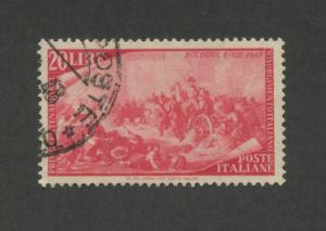 ITALY  #503 Used VF Issue / Austrian Battle at Bologna - S8161