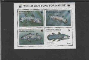 COMORO ISLANDS #833E  1998  WWF     MINT VF NH  O.G  SHEET 4 PERF.  a