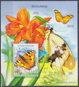 2014 Sao Tome and Principe 5583/B975 Butterflies 10,00 €