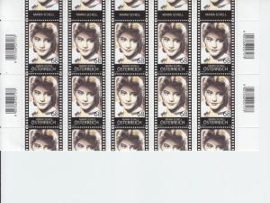 2015 Austria Maria Schell Actress Full Sheet(Scott 2559) MNH