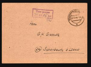 Germany 1946 TAXE PERCUE Stampless Card (VI) - Z14762
