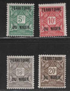Niger Scott J1-J4  MH* postage dues
