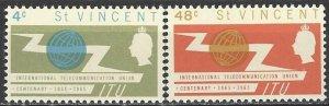 St. Vincent  224-5  MNH  ITU Centennial
