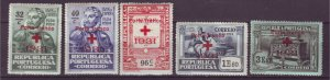 J22090 Jlstamps  1931 portugal part of set mh #1s31-5 red cross