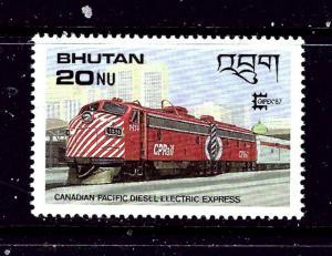 Bhutan 604 NH 1987 Locomotive