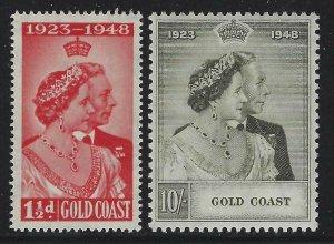 Gold Coast 1948 Silver Wedding set Sc# 142-43 mint