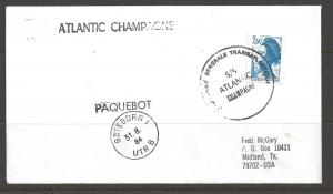 1984 Paquebot Cover, France stamp mailed in Goteborg, Sweden