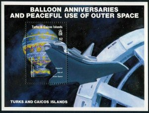 Turks & Caicos MNH S/S 577 Manned Flight Peaceful Uses Of Outer Space