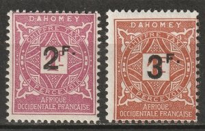 Dahomey 1927 Sc J17-8 postage due set MLH*