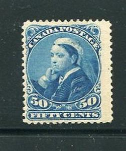 Canada #47  Mint original gum and signed