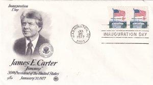 1977, James E. Carter, Inauguration Day Cover, Art Craft/PCS (E11323)