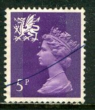 Great Britain, Region, Wales; 1971: Sc. # WMMH5: O/Used Single Stamp