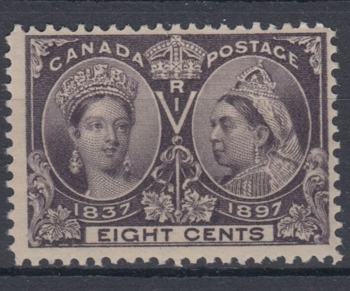 #56 Eight Cent Jubilee F MNH Cat $180 Canada mint