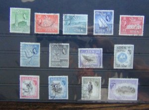 Aden 1953 - 63 values to 20s Used