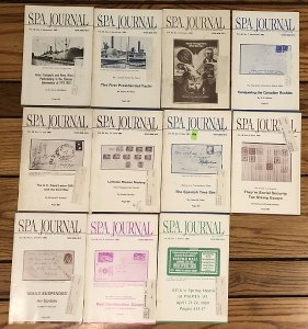 Society of Philatelic Americans SPA Journal - 11 different issues from 1983