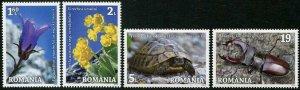 HERRICKSTAMP NEW ISSUES ROMANIA Sc.# 6158-61 Domogled Nature Park