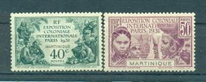 Martinique sc# 129-132 mh cat value $21.00