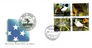 Micronesia, Worldwide First Day Cover, Birds