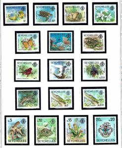 Seychelles 388-403 MNH 1977-91 Definitive set